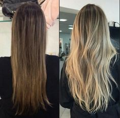 Are you looking for best hair colors to apply for long hair? Just see here, we have made a collection of fantastic long balayage colored hairstyles Honey Blonde Hair, Blonde Hair Looks, Blonde Hair With Highlights, Brunette Hair, Brown Hair Balayage, Bayalage, Aesthetic Hair, Light Hair, Hair Inspiration