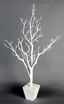 Check out the deal on 3 Foot White Centerpiece Tree in Decorative Pot at  Battery Operated Candles | Wedding stuff | Pinterest | White centerpiece,  ...