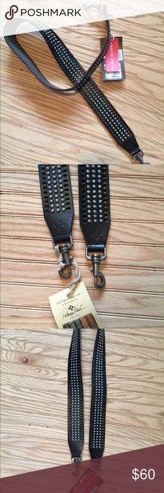 "NWT Black Leather Bag Strap Patricia Nash Nice wide black leather strap  2"" Wide Patricia Nash Bags Crossbody Bags"