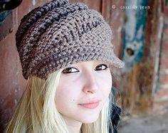 Instant Download Crochet Pattern Slouchy Hat Crochet by pixiebell
