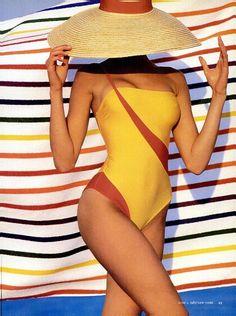 "Stephanie Seymour""To Swim Or Not To Swim"", NYC Magazine US, June 1987By Robert Erdmann"