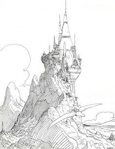 Mountain Palace by Jean Giraud (Moebius):