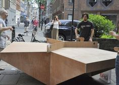 3-Way Ping Pong Table Seen at London's Clerkenwell Design Week : TreeHugger by the Redundant Architects Recreation Association.