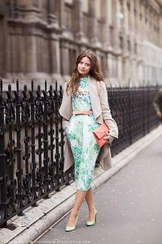 Pastel modest dress