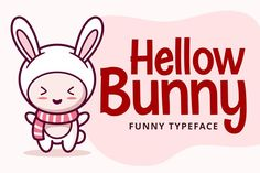 Hellow Bunny #cute #fantastic #casual #packaging #branding #magazine #logo #invitation #playfulness #childlike Graphic Design Branding, Modern Graphic Design, Bunny Logo, Handwritten Script Font, Premium Fonts, All Fonts, School Projects, School Design, Product Packaging