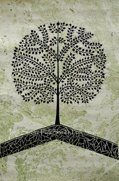 Tree Of Life. Warli Painting Indian Folk Art Contemporary Style Home Decor Wedding Gift Custom Acrylic Painting Bestseller Speed Shipping Tree Of Life Artwork, Tree Of Life Painting, Tree Art, Painting Art, Contemporary Style Homes, Contemporary Paintings, Contemporary Building, Contemporary Apartment, Contemporary Bedroom