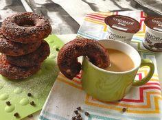 Coffee Protein Donuts: Sub plain flavored yogurt instead