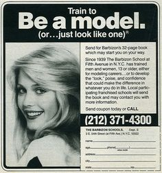 Barbizon Modeling Ad... OMG I remember these.