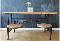 Industrial Cafeteria Table 4-Seater, Three Potato Four $2000