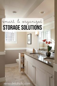Great ideas for making problem areas into organized spaces in your home | Remodelaholic.com