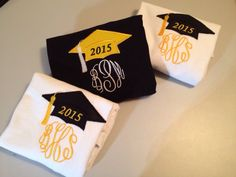 Great graduation gift 2015 senior shirt Cap Hat personalized monogram monogrammed embroidered appliqué T-shirt Shirt high school college Tee by wmartin13 on Etsy https://www.etsy.com/listing/200106512/great-graduation-gift-2015-senior-shirt