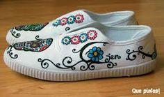 zapatillas pintadas a mano diseños - Buscar con Google