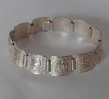 Sterling silver 925 flat bracelet, 7 inches Lot 396
