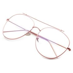 SheIn(sheinside) Rose Gold Frame Clear Lens Double Bridge Glasses (190 MXN) ❤ liked on Polyvore featuring accessories, eyewear, eyeglasses, glasses, gold eyeglasses, clear eyeglasses, retro clear glasses, clear glasses and rose glasses
