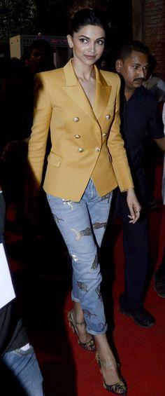 Deepika Padukone at the MAMI Movie Mela. #Bollywood #MAMI2015 #Fashion #Style #Beauty #Hot #Cute