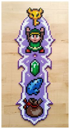 LoZ wall decorattion perler beads by Oggey-Boggey-Man