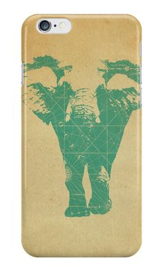 """""""Elephant print"""" iPhone Cases & Skins by opul 