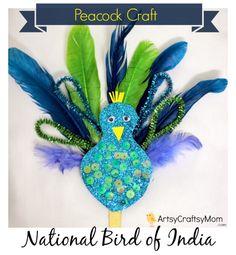 Pipecleaner Glitter peacock