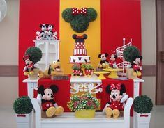 Mickey Mouse Birthday Theme, Mickey Mouse Parties, Mickey Party, Birthday Backdrop, 3rd Birthday Parties, Birthday Ideas, Mickey And Friends, Mickey Minnie Mouse, Disney Clubhouse