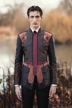 Alexander McQueen   Menswear - Autumn 2017   Look 13