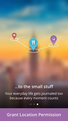Just downloaded Heyday, a private auto-journaling app. Great intro screens that gives the user a good reason to permit location & photos.