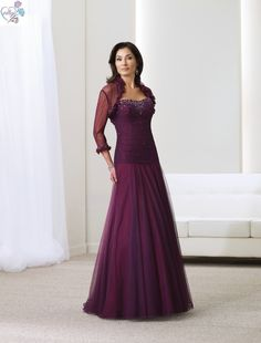 Mother of the Bride Dresses | Purple Mother of The Bride Dress (MD005)