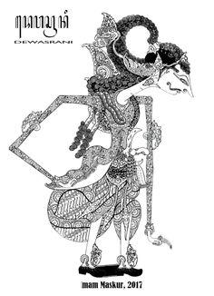 Wayang Kreasi Digital (17) – Katongan Bokongan Luruh | kluban Java, Indonesian Art, Shadow Puppets, Concept Art, Cool Art, Digital, Tattoos, Drawings, Pattern