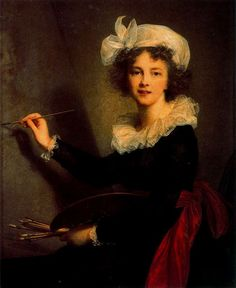 Autorretrato, 1790, -- Elisabeth Vigée-Lebrun, Galeria de los Uffizi, Florencia