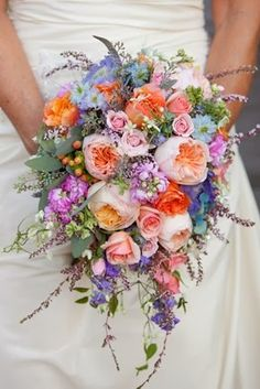 North/South Oval Bouquet Bordering on Cascade Bouquet. Bouquet by Holly Chapple Flowers. Bou Photography by Tracy Timmester. Cascading Wedding Bouquets, Cascade Bouquet, Bride Bouquets, Bridal Flowers, Floral Wedding, Wedding Colors, Trendy Wedding, Purple Bouquets, Blue Bouquet