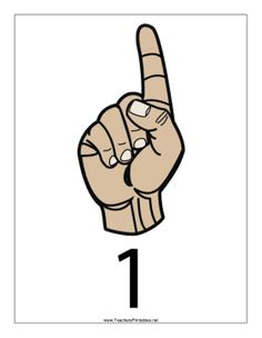 This printable features a sign language number 1 with a label. Free to download and print Sign Language Interpreter, Asl Sign Language, Libra, Simple Sign Language, Asl Signs, Hand Signals, Free Sign, Outline, Numbers