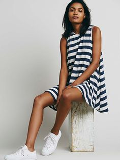 FP Beach Striped Lalelei Tunic at Free People Clothing Boutique