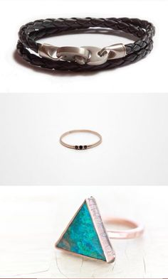 I would totally wear these. Loving that tiny band with black stones