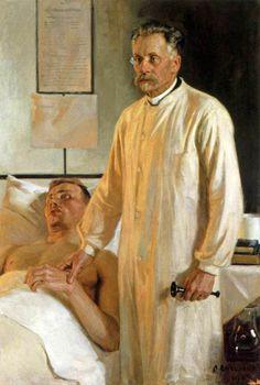 Albert Edelfelt. Портрет профессора Рунебергина. 1902