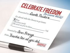 Let your team out early with our free download Freedom Passes!