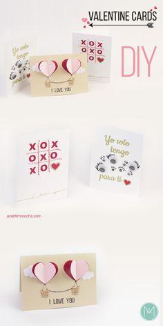 DIY Valentine Cards / Tarjetas de San Valentin
