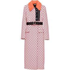 Miu Miu Coat ($3,500) ❤ liked on Polyvore featuring outerwear, coats, jackets, coats & jackets, pink, miu miu coat, oversized coat, jacquard coat, pink coat and miu miu