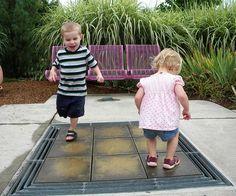 In-Ground Xylophone.  The Children's Garden at Hershey Gardens.