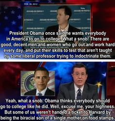 Stephen Colbert, You're amazing!