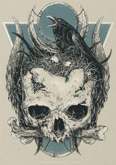 Skull, Vlad Gradobyk on ArtStation at https://www.artstation.com/artwork/QNQvl