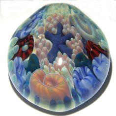 Bottom of the Sea      Large Boro Glass Pendant  by MandellaGlass, $45.00