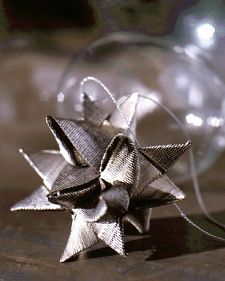 This delicate star ornament is a traditional German holiday decoration originally made from strips of paper.