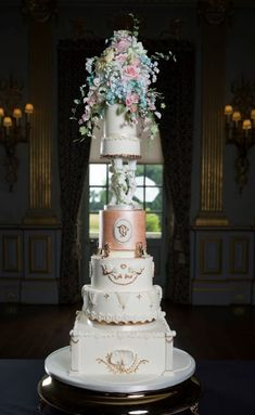 Bespoke wedding cake inspired by the Stucco Ballroom at Knowsley Hall