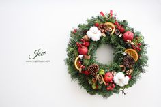 Christmas wreath fruit