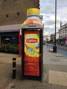 Funny advertising in phone booth