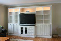 Built-in Entertainment Center and Bookshelves - by Joe @ LumberJocks.com ~ woodworking community