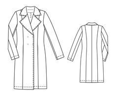 Пальто - выкройка № 103 из журнала 3/2014 Burda – выкройки пальто на Burdastyle.ru