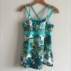 prAna yoga tank Like new prana tank with built in bra gorgeous vibrant pattern form fitting perfect for longer torsos prAna Tops Tank Tops