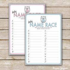 FREE printable owl baby shower game. SUPER CUTE!!!! Perfect for my upcoming owl themed baby shower. Pin this!
