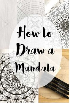 Learn the step by step of how to draw a mandala. Learn the step by step of how to draw a mandala. Geometric Mandala, Mandala Dots, Mandala Pattern, Zentangle Patterns, Zentangles, Doodle Patterns, Doodle Borders, Mandala Au Compas, Mandala Doodle
