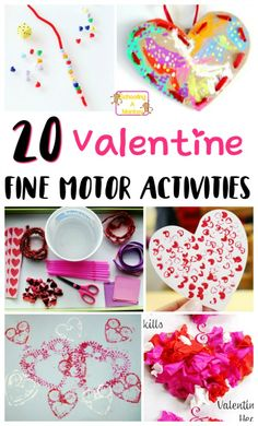 Make Valentine\'s Day special and educational for your toddlers and preschoolers with these Valentine\'s Day fine motor activities! Kids will love them!